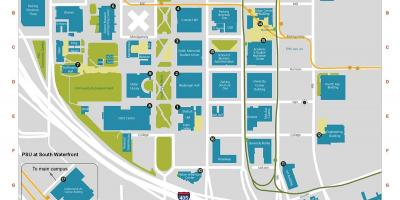 PDX edu Campus mapa